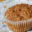 Gluten Free Vegan Carrot Muffins (sugar free, xanthan free, nut free)
