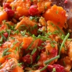 Cranberry Sweet Potato Salad with Maple Dijon Dressing ( GF, dairy free, vegan, paleo, nut free)