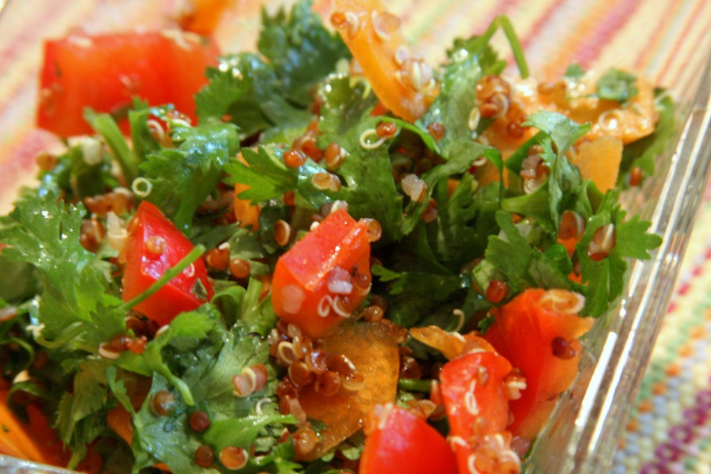 Gluten Free Red Quinoa Tabbouleh