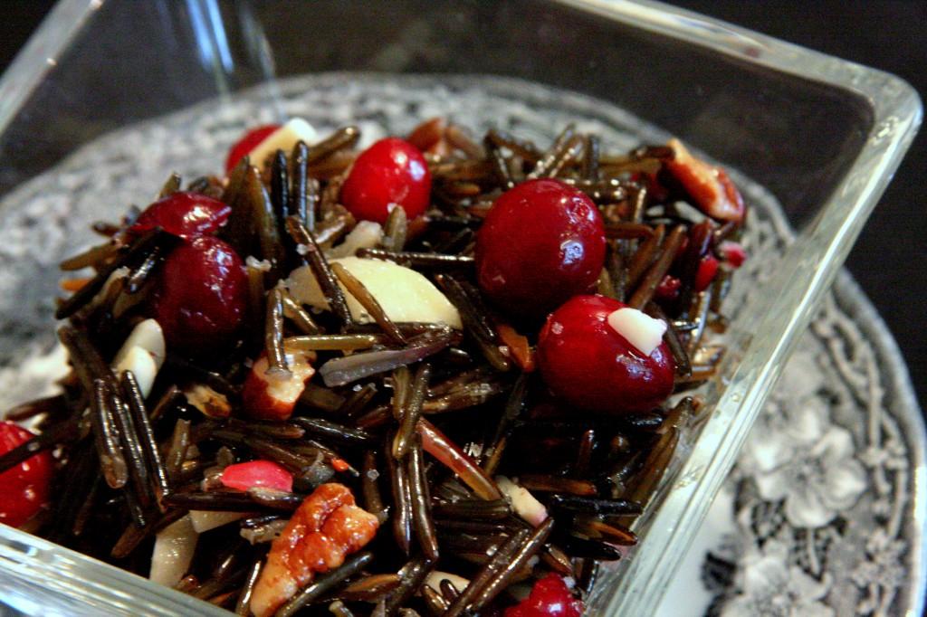 Cranberry Wild Rice Almond Salad Recipe * Gluten Free Ottawa * My Real Food Life