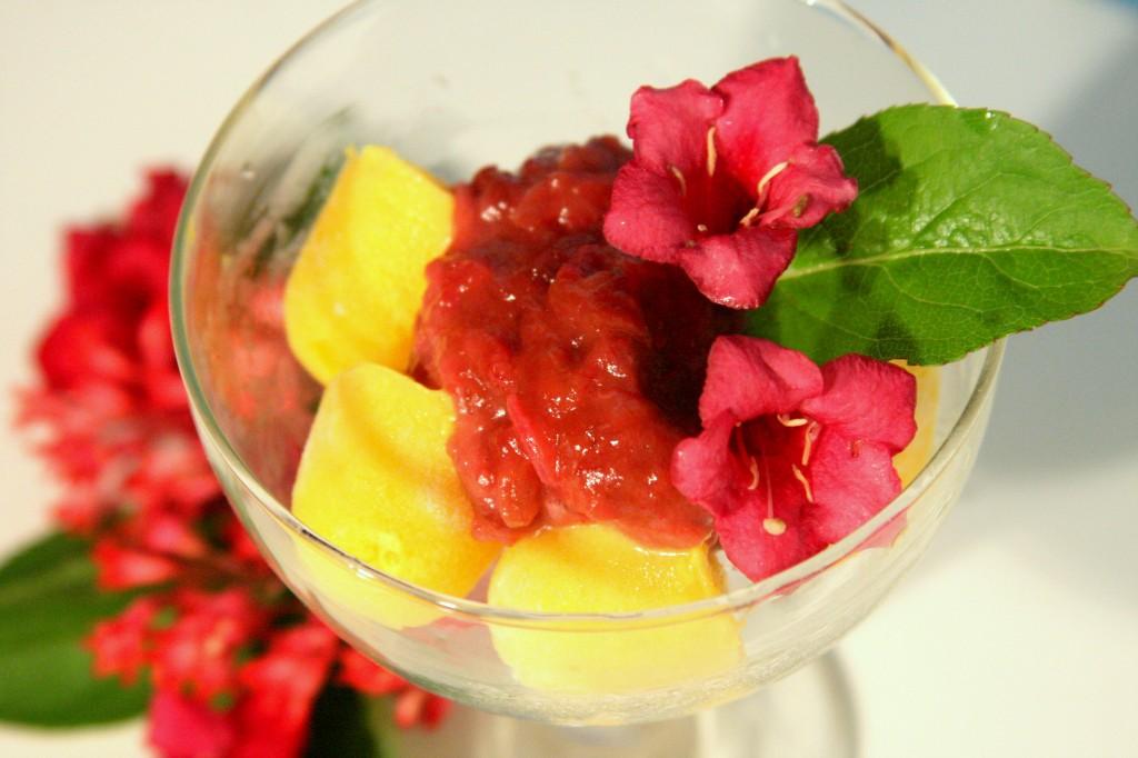 Rhubarb Ginger Sauce (Vegan, GF, Paleo) MyRealFoodLife.com