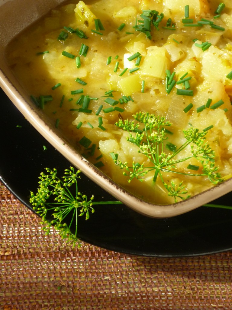 Dairy Free Leek and Potato Soup