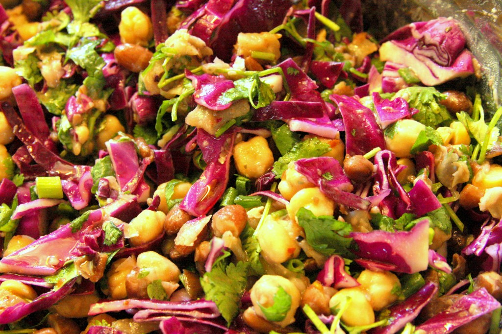 Purple Cabbage Chickpea Salad