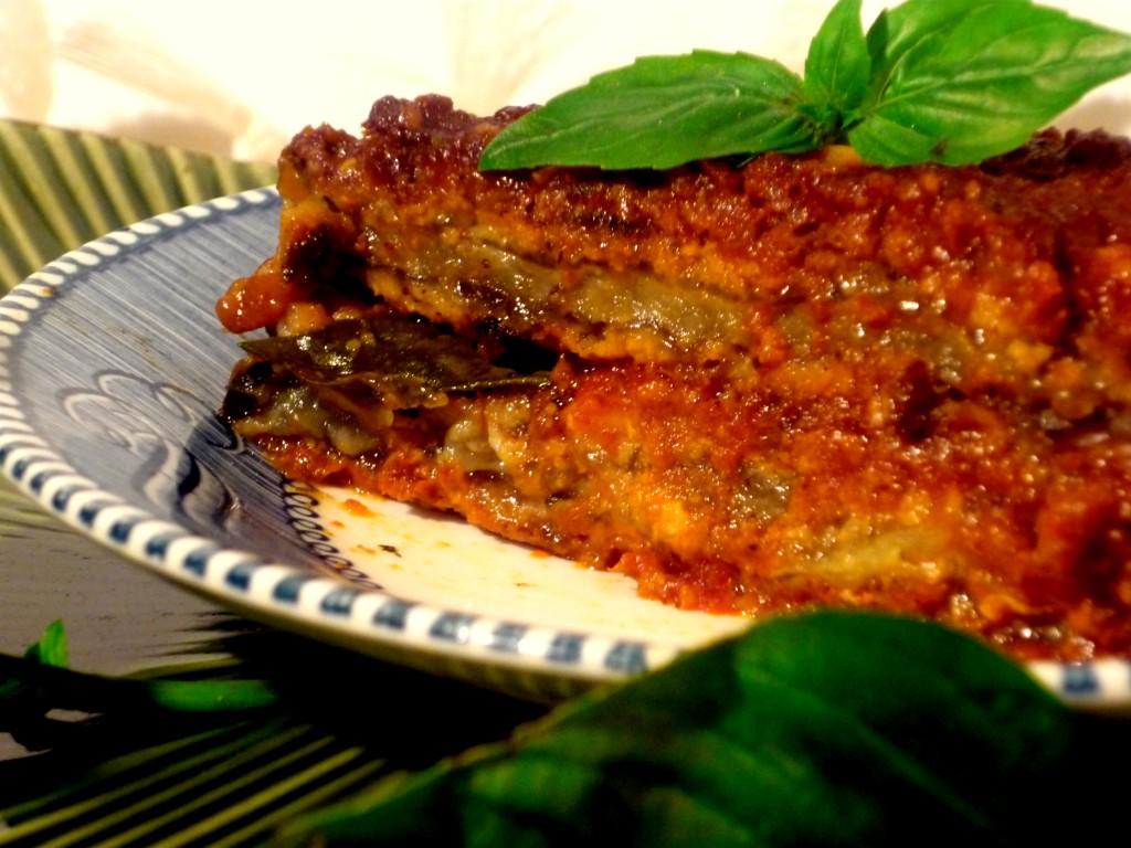 gluten free, egg free, dairy free eggplant parmesan