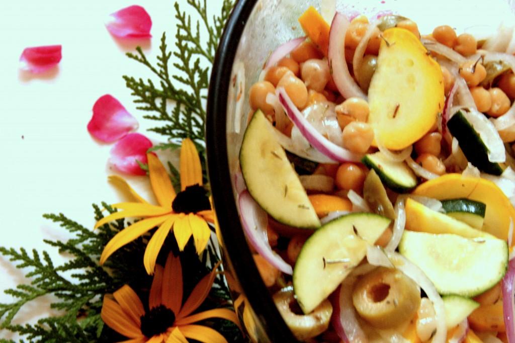 Zuchini Thyme Salad