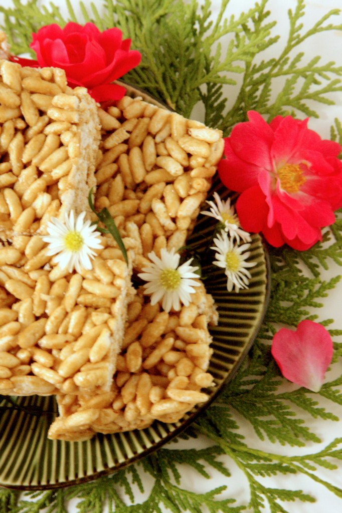 Marshmallow Free Rice Krispie Squares