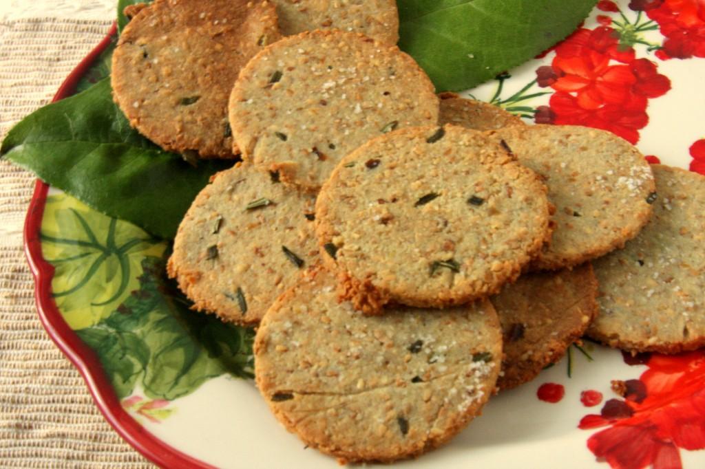 Gluten Free Egg Free Rosemary Sesame Crackers