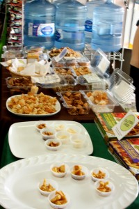 Samples of Gluten Free Goodies at Rainbow Foods