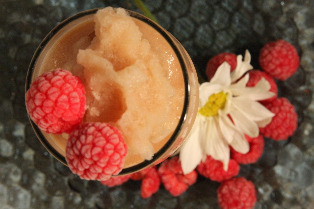 Dairy Free Orange Ginger Tea Latte Slushie - MyRealFoodLife.com