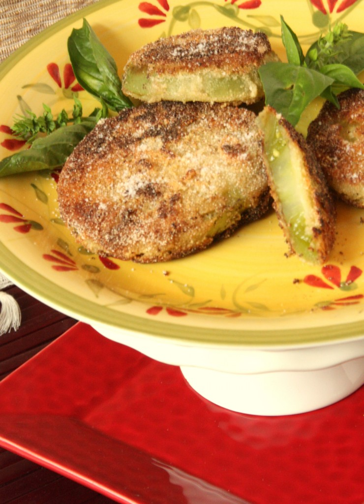 Gluten Free Egg Free Fried Green Tomatoes - MyRealFoodLife.com