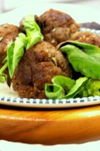 Gluten Free Egg Free Rosemary Sesame Turkey Meatballs -MyRealFoodLife.com